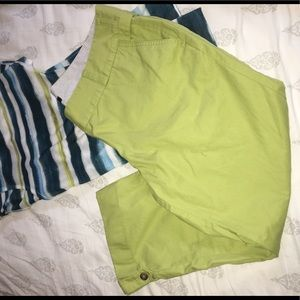 Lands End Capri Chinos Pants Green 16W Cuffed